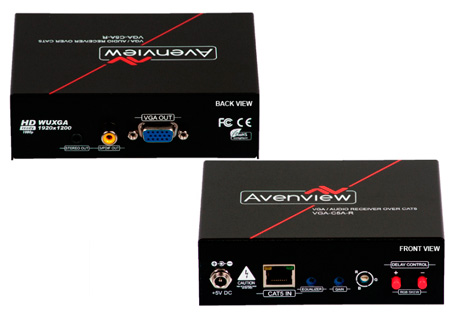 Avenview VGA-C5A-R VGA & Audio over CAT5 Receiver with RGB Delay Control
