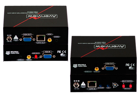 Avenview VGA-C5A-SET VGA & Audio over CAT5 Extender with RGB Delay Control
