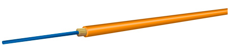 OCC AX001NWLS9OR Simplex Multimode 62.5u/125u Fiber Optic Cable Orange Per Foot