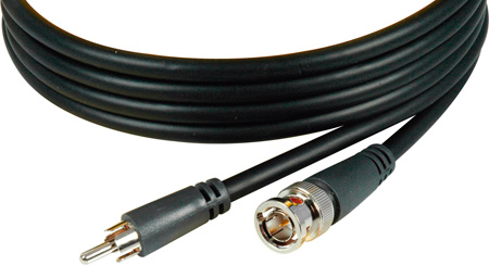 TecNec Packaged Premium BNC Male to RCA Male Flexible Video Cable 50Ft