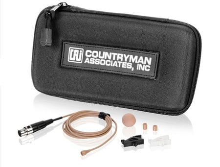 Countryman B3 Omni Round Lavalier TA4F For Shure -Tan