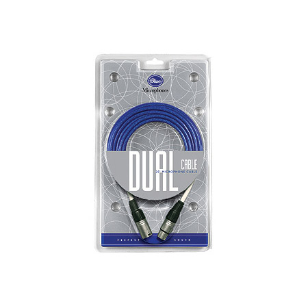 Blue Dual Cable High-Fidelity XLR Microphone Cable