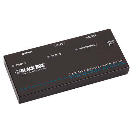 Black Box AVSP-DVI1X2 1x2 DVI-D Splitter with Audio and HDCP