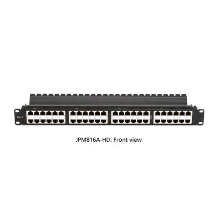 Black Box JPM816A-HD SpaceGAIN CAT6 High-Density Feed-Through Patch Panel