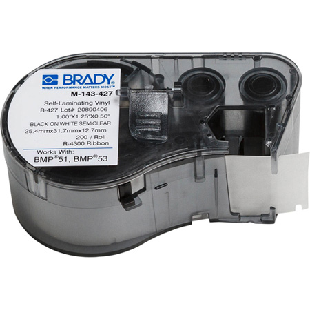 Brady M-143-427 BMP51/BMP53/BMP41 Label Maker Cartridge