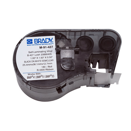 Brady M-91-427 BMP51/BMP53/BMP41 Label Maker Cartridge - White