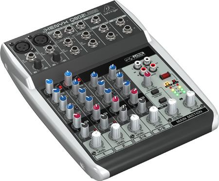Behringer Q802USB Premium 8-Input 2-Bus Analog Audio Mixer