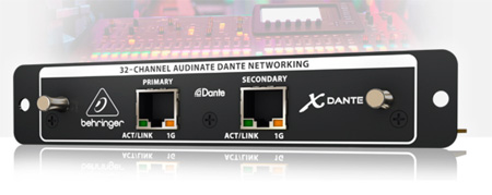 Behringer X-DANTE - High-Performance 32-Ch Audinate Dante Expansion Card for X32
