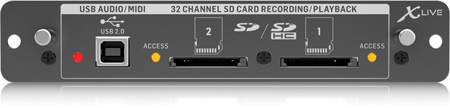Behringer X-Live - X32 Expansion Card for 32-Channel SD/SDHC Card and USB Recording