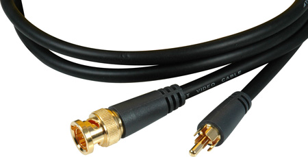 TecNec Premium Gold BNC Male - Gold RCA Male Molded Flexible Video Cable 15Ft