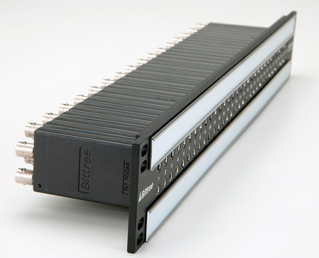 Bittree B96DC-FNABT/ID Punchdown 2x48 2RU Front Programmable TT Audio Patchbay
