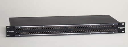 Bittree B96DC-HNILS/D25 2x48 1.5RU Internal Half Normal Programmable TT Audio Patchbay
