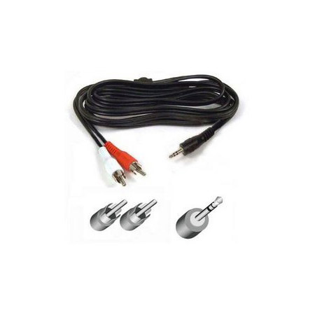 Belkin F8V235-06 Y Audio Cable Stereo Mini Male to 2 RCA Male 6ft
