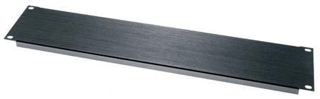 Middle Atlantic BL1/2 1/2 Space Flanged Aluminum Blank Panel Black Brushed Finish