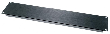 BL1 1 Space 1 3/4in Flanged Aluminum Blank Panel Black Brushed Finish