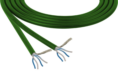 Belden 1192A Star Quad Low Impedance Mic & Instrument Cable 1000 Foot - Green