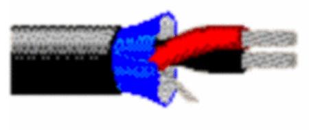 Belden 1266A 1PR Audio Cable - Black - 1000 Foot