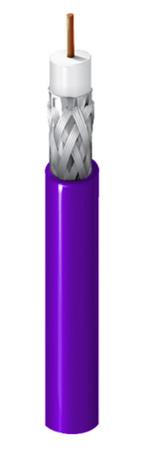 Belden 1506A RG59/20 SDI/Plenum Coaxial 1000Ft Violet