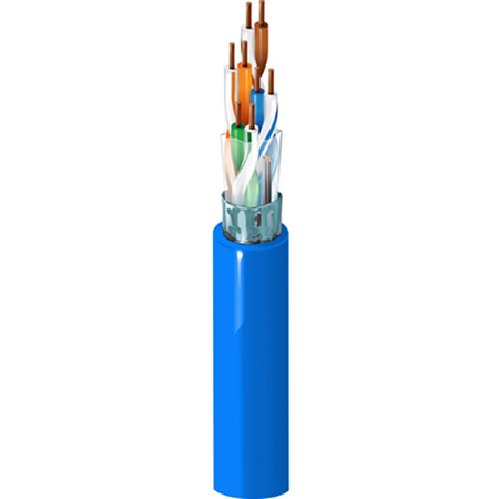 Belden 1533P Plenum 4-Pair DataTwist 5e ScTP Cable 1000Ft Roll - Blue