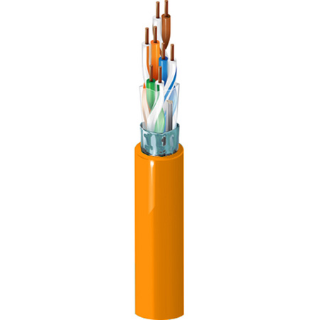 Belden 1624R 4/24 Cat5 Nonbonded-Pair ScTP Cable - 1000 Ft. Orange