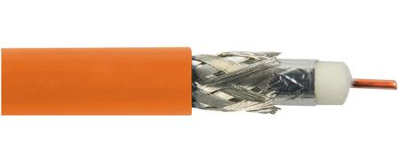 Belden 1694A CM Rated RG6 Digital Coaxial Cable Orange Per Foot