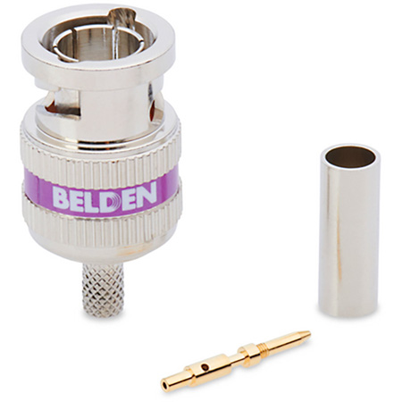 Belden 4855RBUHD3 12 gHz 3 Piece BNC Purple Band for Mini RG59 - 50 Pack