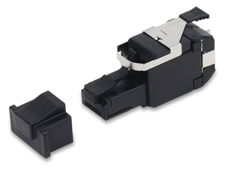 Belden RVAFPUBK-B24 REVConnect 10GX T568 A/B UTP Cable RJ45 Connector Plug - Black - 24-Pack