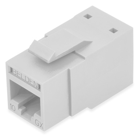 Belden RVAMJKUEW-B24 REVConnect 10GX T568 A/B UTP RJ45 Modular Jack Connector - Electric White - 24 Pack