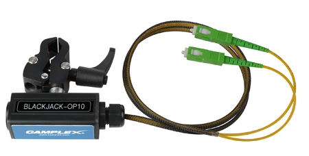 Camplex BLACKJACK-OP10 opticalCON DUO APC to Duplex (2) SC/APC Breakout Adapter - Singlemode with Clamp