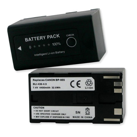 Empire BLI-436-4.9 Replacement Battery for Canon BP-955 - 7.4V 4400MAH
