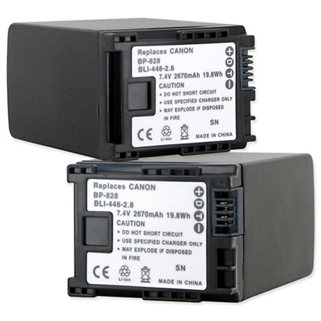 Empire BLI-448-2.8 Replacement Li-Ion Battery for Canon BP-828