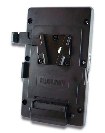 Blueshape MV V-Mount Adapter Plate with 2 Pin D-Tap DC Output