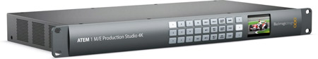 Blackmagic ATEM 1 M/E Production Studio 4K Switcher w/DVE & Stinger Transitions - B-STOCK(scratched chassis)