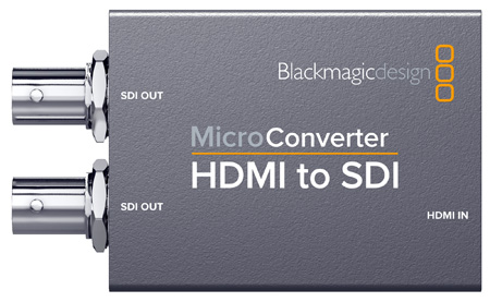 Blackmagic Design BMD-CONVCMIC/HS/WPSU Micro Converter - HDMI to SDI with Power Supply