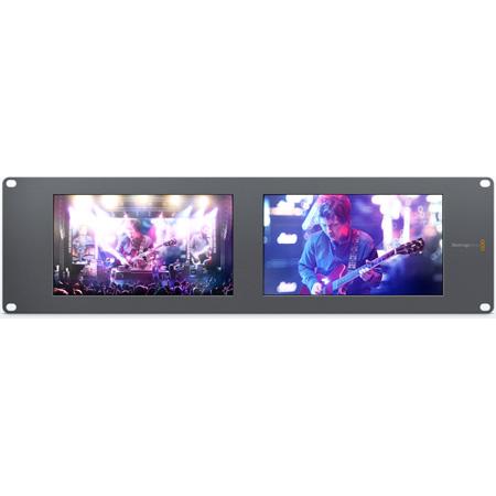 Blackmagic HDL-SMTVDUO2 SmartView Duo2 Dual 8 Inch Intelligent SDI Rack Monitors