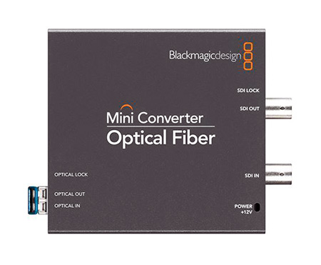 Blackmagic Design CONVMOF Mini Converter Bi-Directional Transceiver SDI to LC Optical Fiber Extender