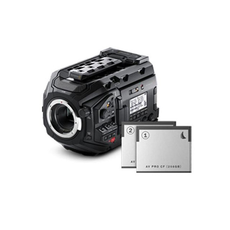 Blackmagic Design BMD-URSAMINIPRO-MATCH URSA Mini Pro 4.6K Matchpack Bundle Includes Two 256GB CFast 2.0 Cards