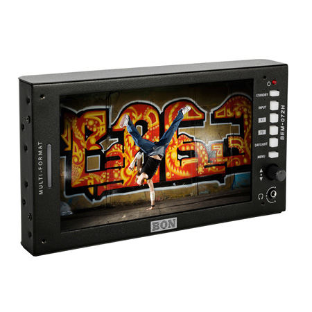 BON BEM-072H 7 Inch High Brightness  3G/HD/SD-SDI & HDMI Full HD On-Camera Field Monitor with Waveform and Vectorscope