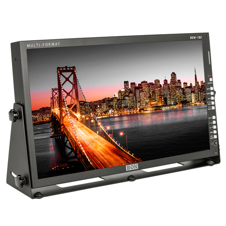 BON BEM-182 18.5 Inch 3G/HD/SD-SDI & HDMI LCD Studio Broadcast & Production Monitor with Waveform & Vectorscope