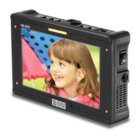 BON FM-055F 5.5 Inch 3G/HD/SD-SDI & HDMI Input/Output Full HD On-Camera Field Monitor with Waveform and Vectorscope