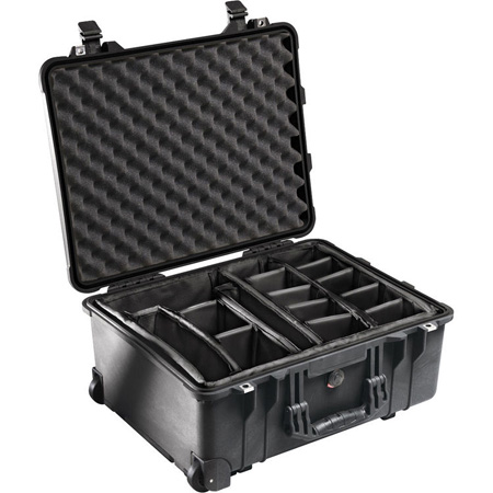 Pelican 1560 Case with Padded Dividers Tan