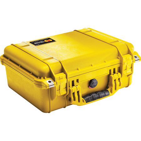 Pelican 1450 Case - Yellow No Foam