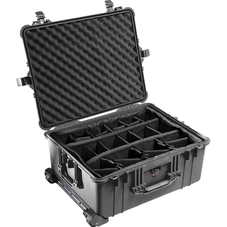 Pelican 1614 Case w/Padded Divider - Black