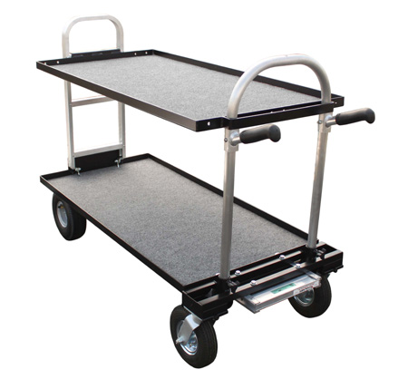 Magliner Senior Cart Modified w/8 In. Wheels Top Middle & Bottom Shelf