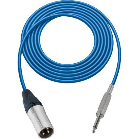 Belden Star-Quad Audio Cable XLR Male to 1/4-Inch Male 1.5 Foot - Blue