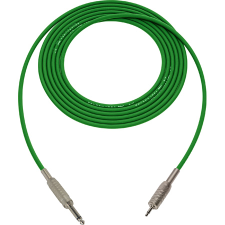Belden Star-Quad Cable 1/4-Inch TS Male to 3.5mm TS Male 10 Foot - Green