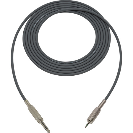 Belden Star-Quad Audio Cable 1/4 TS Male to 3.5mm TRS Male 15 Foot - Gray