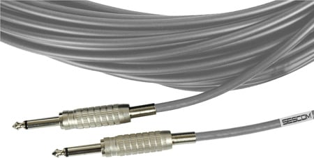 Belden Star-Quad Audio Cable 1/4-Inch TS Male to Male 6 Foot - Gray