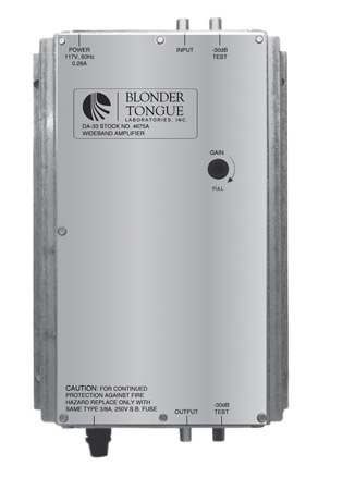 Blonder Tongue DA-33 Wideband Amplifier
