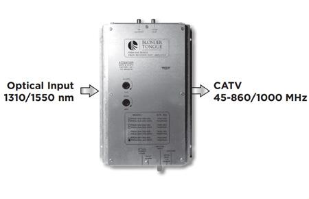 Blonder Tongue FRDA-S4A-1000-SC Fiber Optic Receiver/RF Distribution Amplifier 45-1000 MHz/Single Mode/ SC/APC Connector